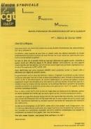 Journal CGT RATP Informations Revendications Mobilisations n°1