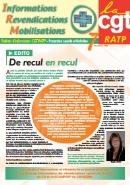 Journal CGT RATP Informations Revendications Mobilisations n°7