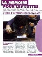 Journal la mémoire pour les luttes n°11 : L'école d'apprentissage de la RATP – mai 2007