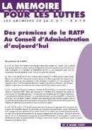 Journal la mémoire pour les luttes n°5 : Des prémices de la RATP au CA d'aujourd'hui – mars 1999