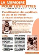 Journal la mémoire pour les luttes n°7 : L'amélioration des conditions de vie et de travail – septembre 2000