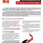 Prévention BUS/MRB, professionnalisation ou productivité ?