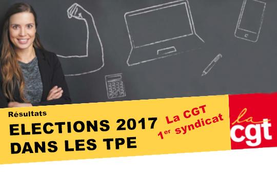 Les salariés confirment la CGT comme premier syndicat des TPE